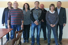v.l.n.r.: Olaf Proske, Detleff Bill, Yvonne Radke-Schulz, Heiko Behne, Ingolf Meyer, Doris Tepelmann und Axel Krüger