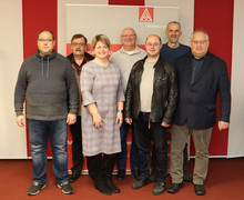 V.l.n.r: Holger Koch, Rainer Heese, Silke Neumüller, Klaus-Jürgen Herzberg, Boris Jülge, Volkhard Lorenz und Gunter Wachholz.