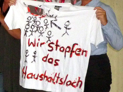 """""""Letzte Hemden"""" für eine gepfefferte Botschaft an die Bundesregierung"""