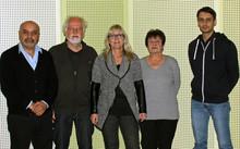 V.l.n.r. Ömer Köskeroglu, Alfred Hartung, Sabine Musiol-Wegner, Gerda Linder und Marco Alizzi
