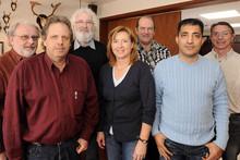v.l.n.r.: Edmond Worgul, Jörg Wilke, Hartmut Möller, Ute Steffen, Rainer Maaß, Mehmet-Emin Gökkus und Jürgen Meywirth
