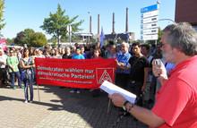 September 2009: Mahnwache gegen Nazis in Wolfsburg