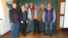 V.l.n.r Boris Jülge, Silke Neumüller, Klaus-Jürgen Herzberg, Volkhard Lorenz, Markus Großmann, Gunter Wachholz, Holger Koch