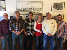 v.l.n.r.: Holger Stetz, Clemens Thaler, Ernst-Adolf Lahmann, Bärbel Behrens-Oelmann, Frank Wolk, Martin Sollmann